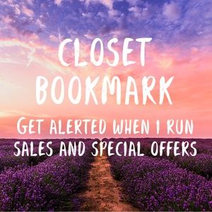 CLOSET BOOKMARK! LIKE & COMMENT FOR SALE ALERTS